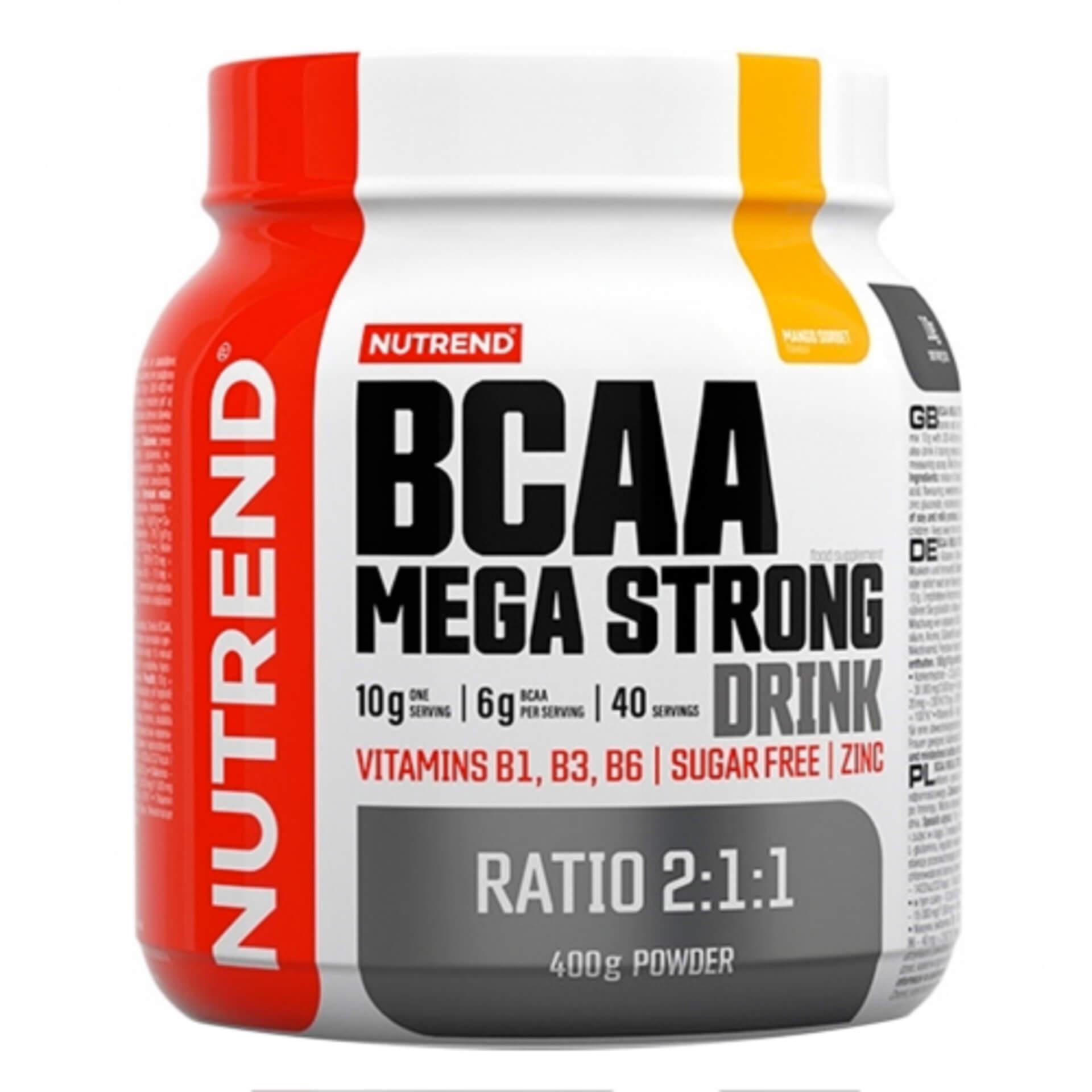 Levně Nutrend BCAA mega strong drink (2:1:1) 400 g