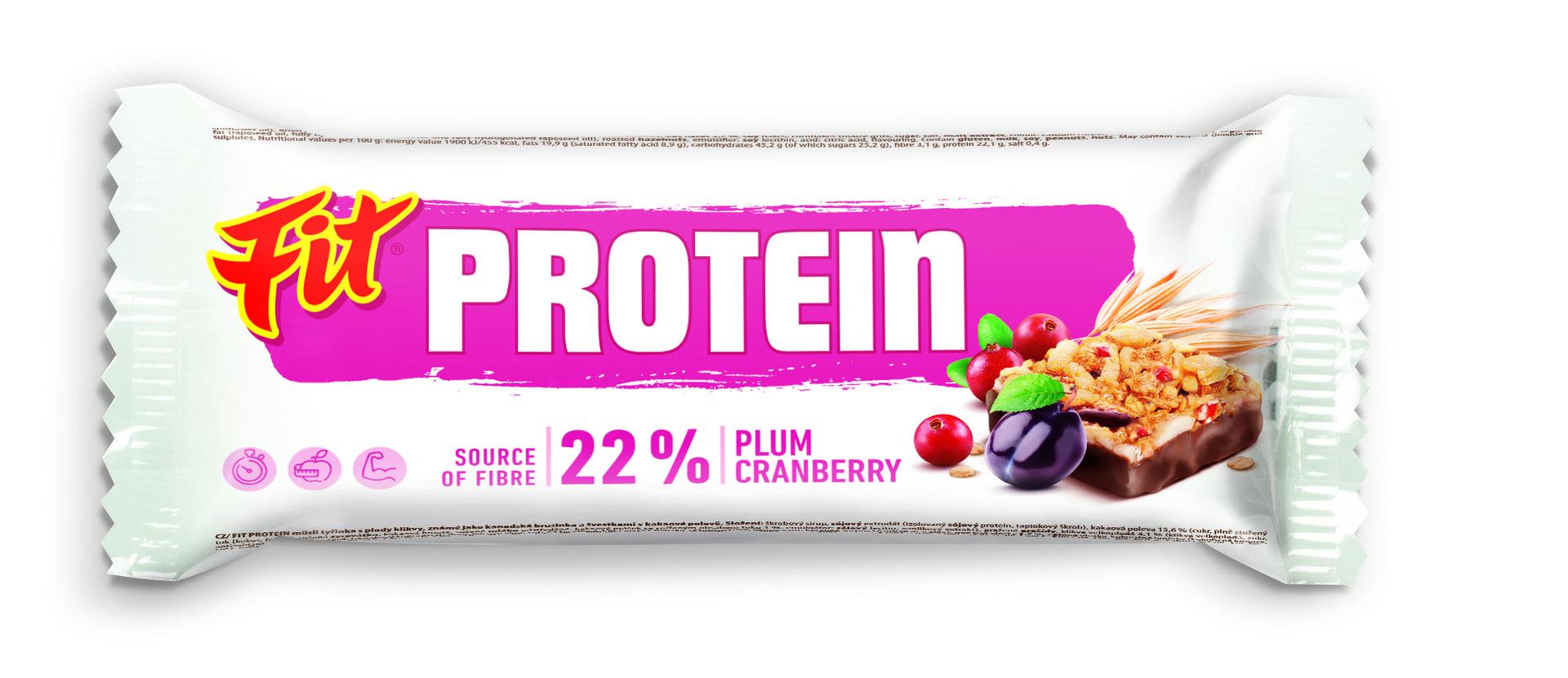 Fit Protein švestka a brusinka kakao 35 g - expirace