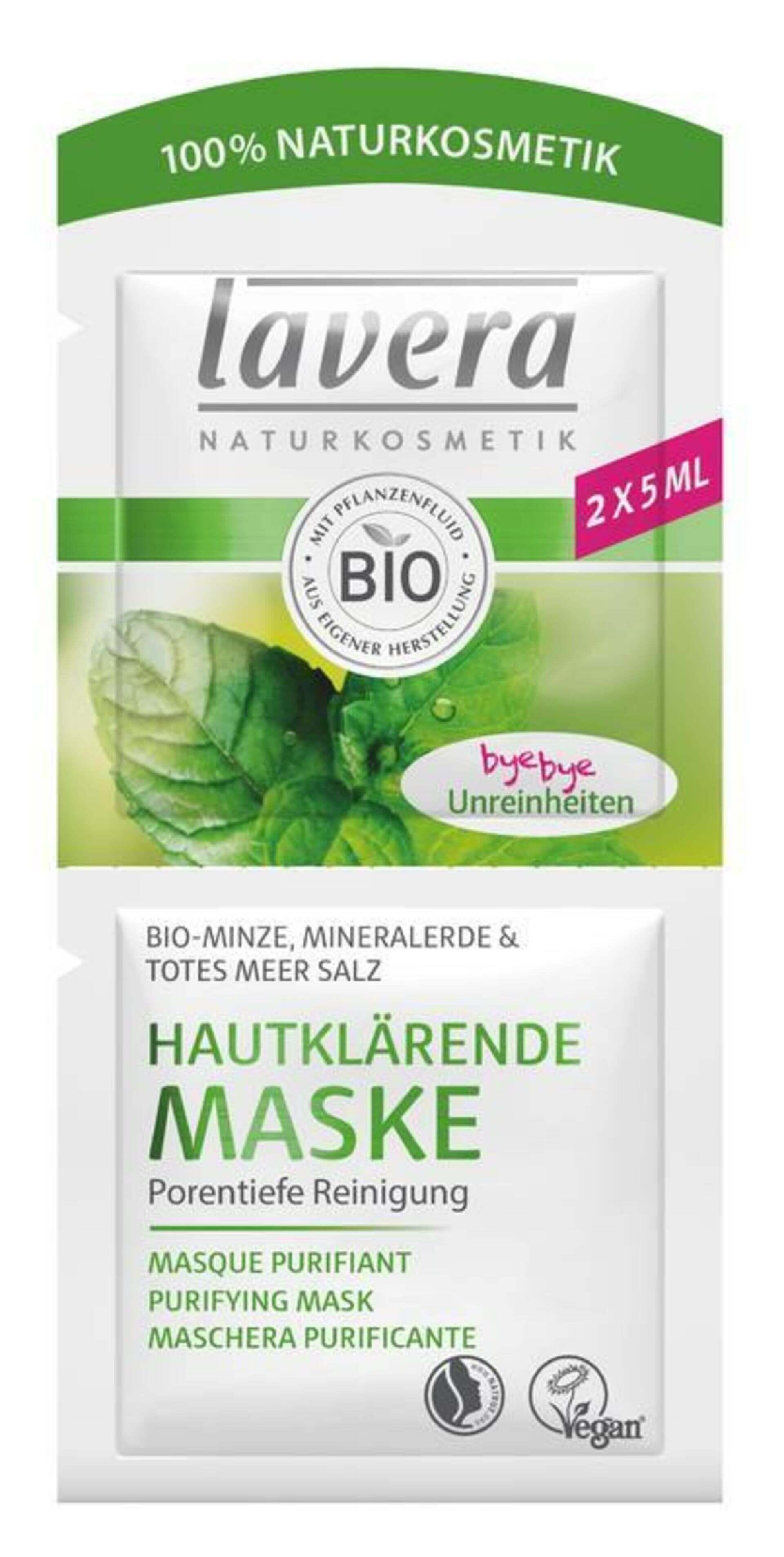 lavera Hloubková čistící maska Bio Máta 2x5 ml