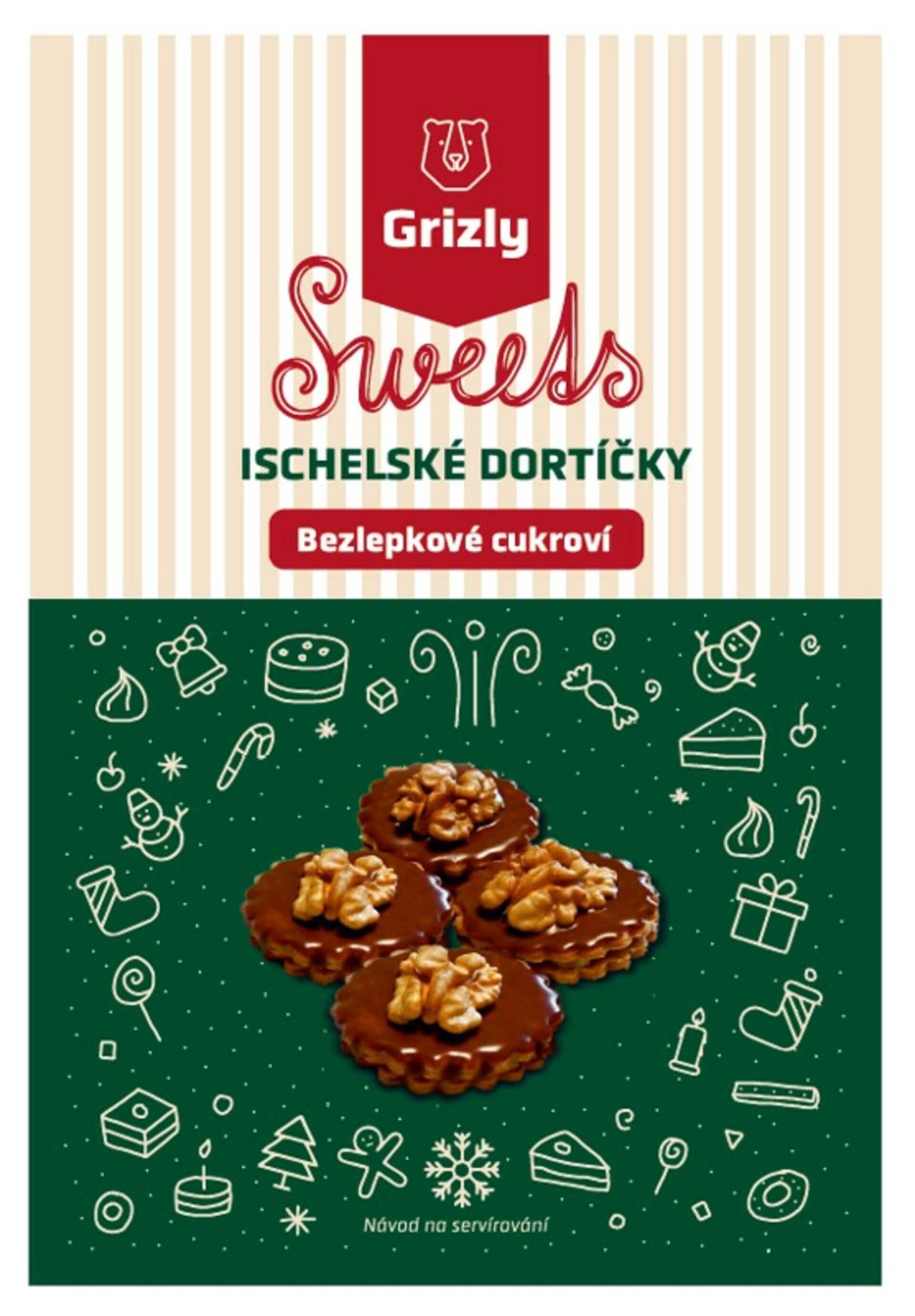 GRIZLY Sweets Směs na ischelské dortíčky bezlepkové 340 g