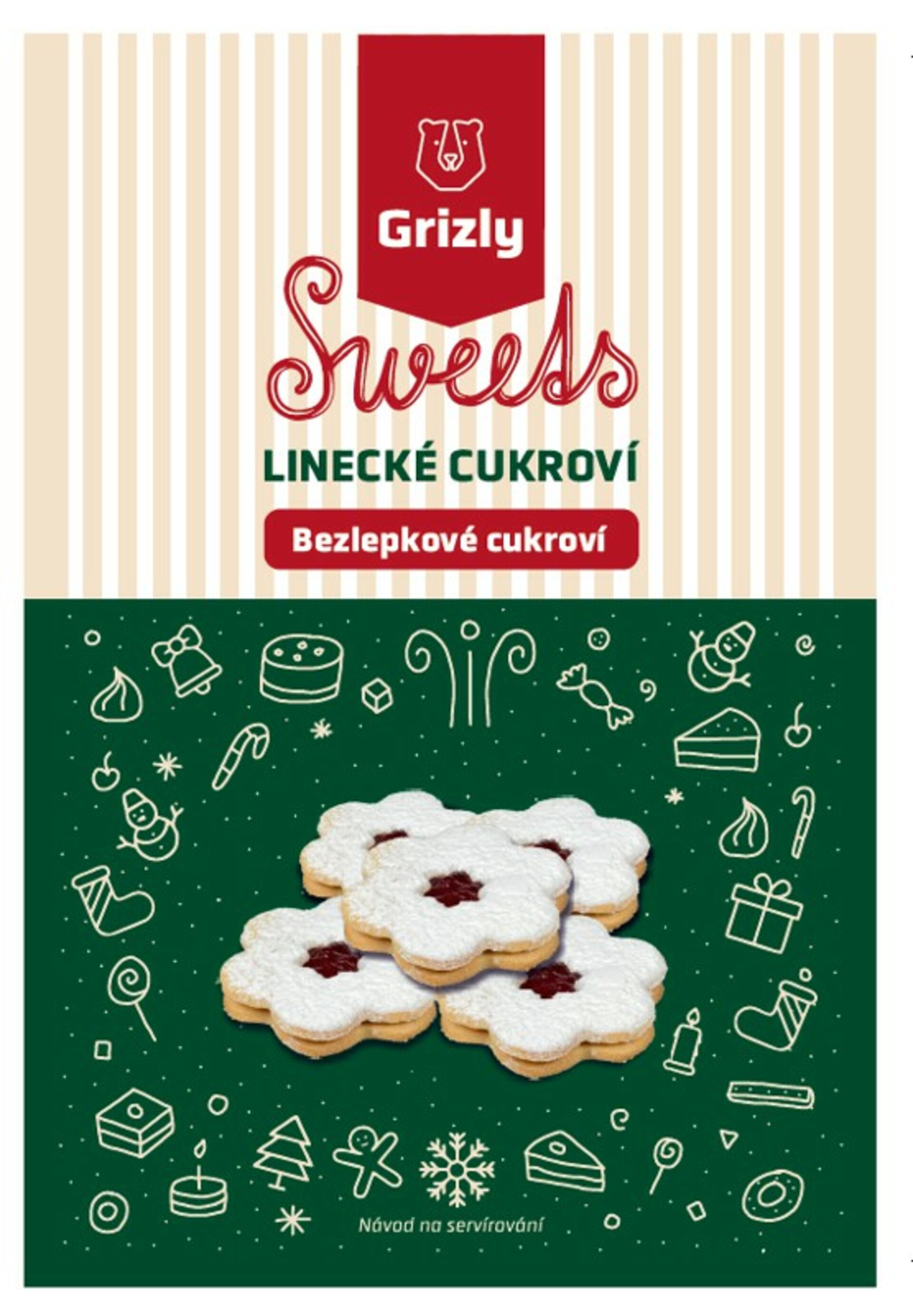 GRIZLY Sweets Směs na linecké cukroví bezlepkové 400 g