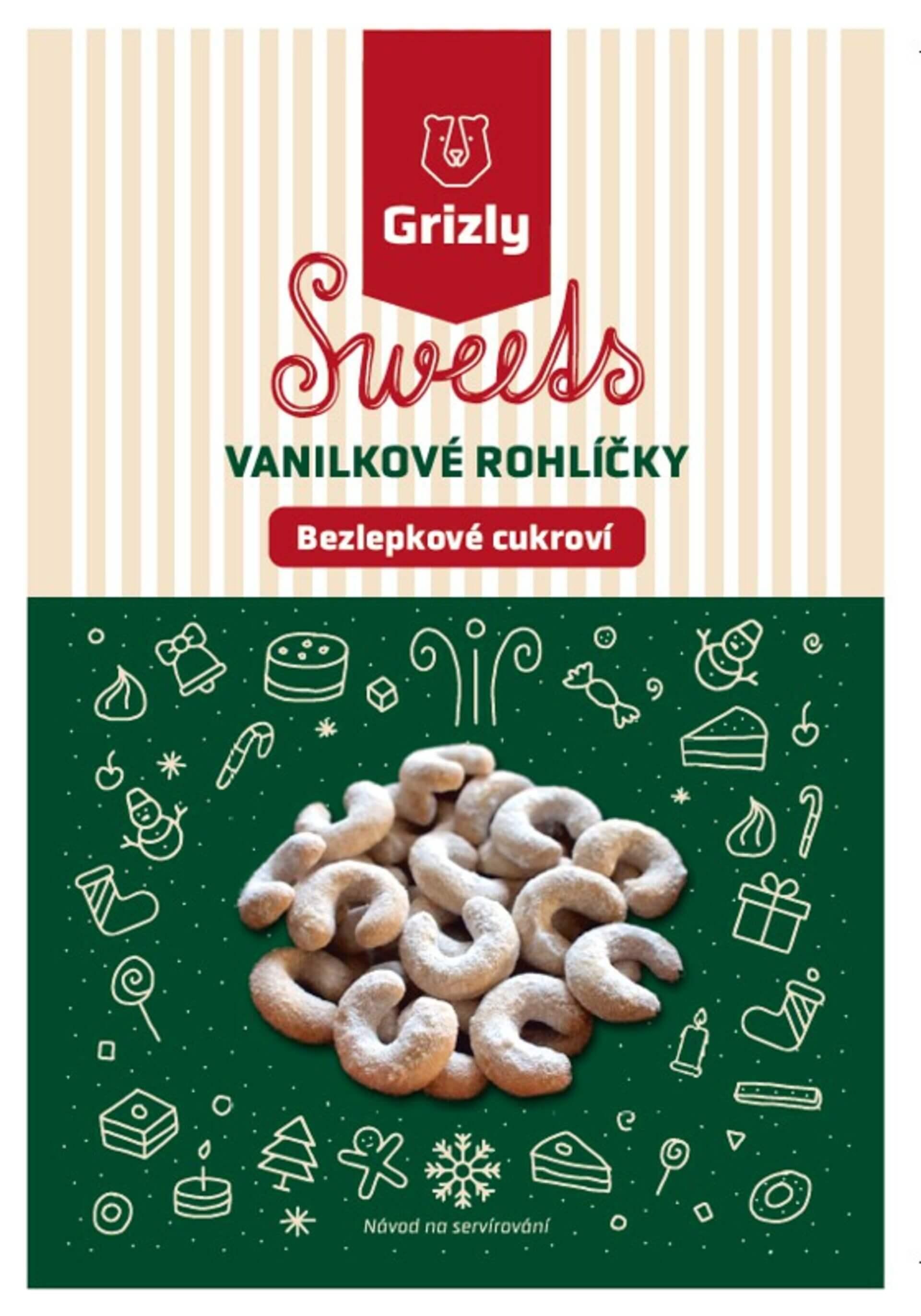 GRIZLY Sweets Směs na vanilkové rohlíčky bezlepkové 440 g