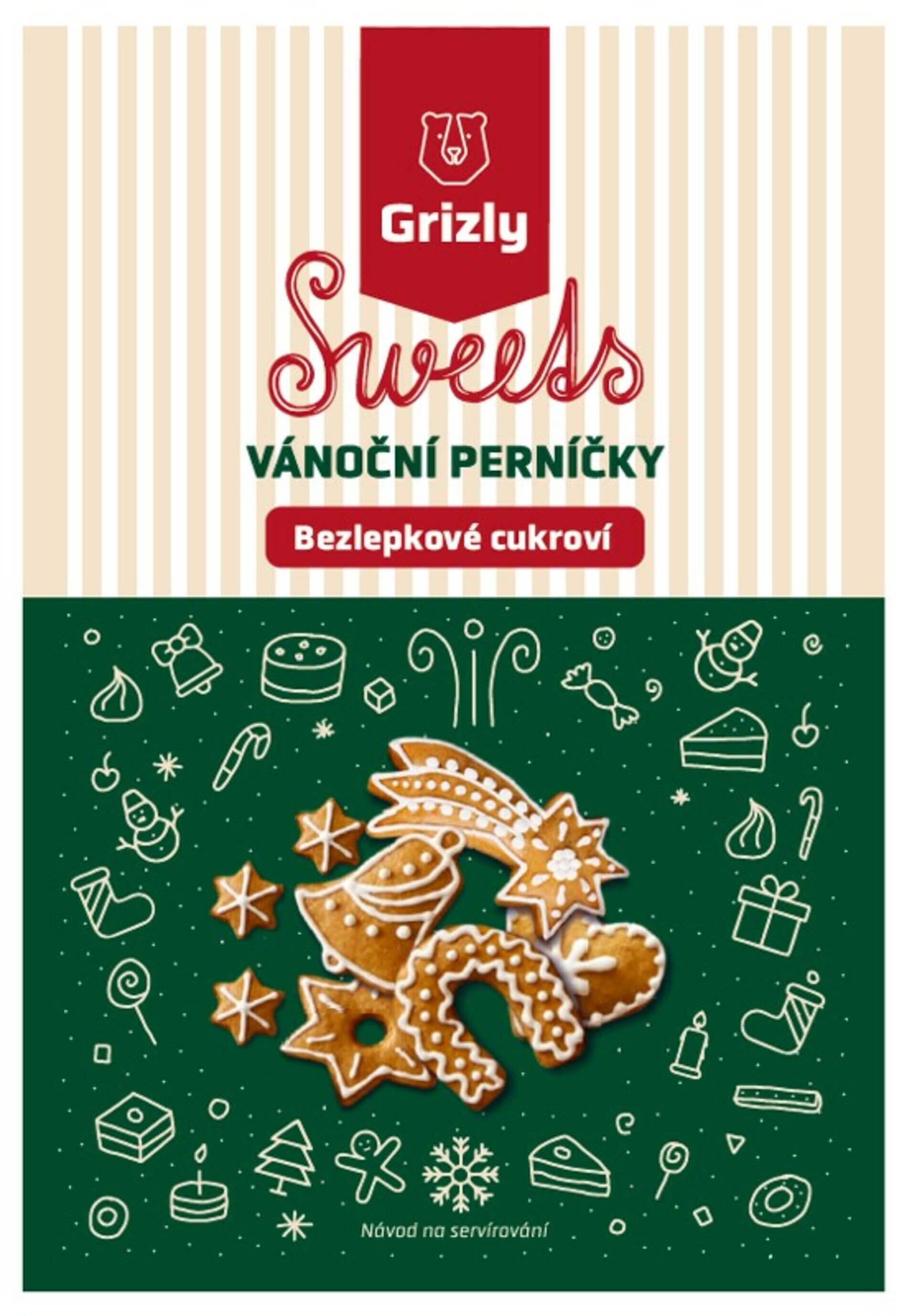 GRIZLY Sweets Směs na vánoční perníčky bezlepkové 560 g