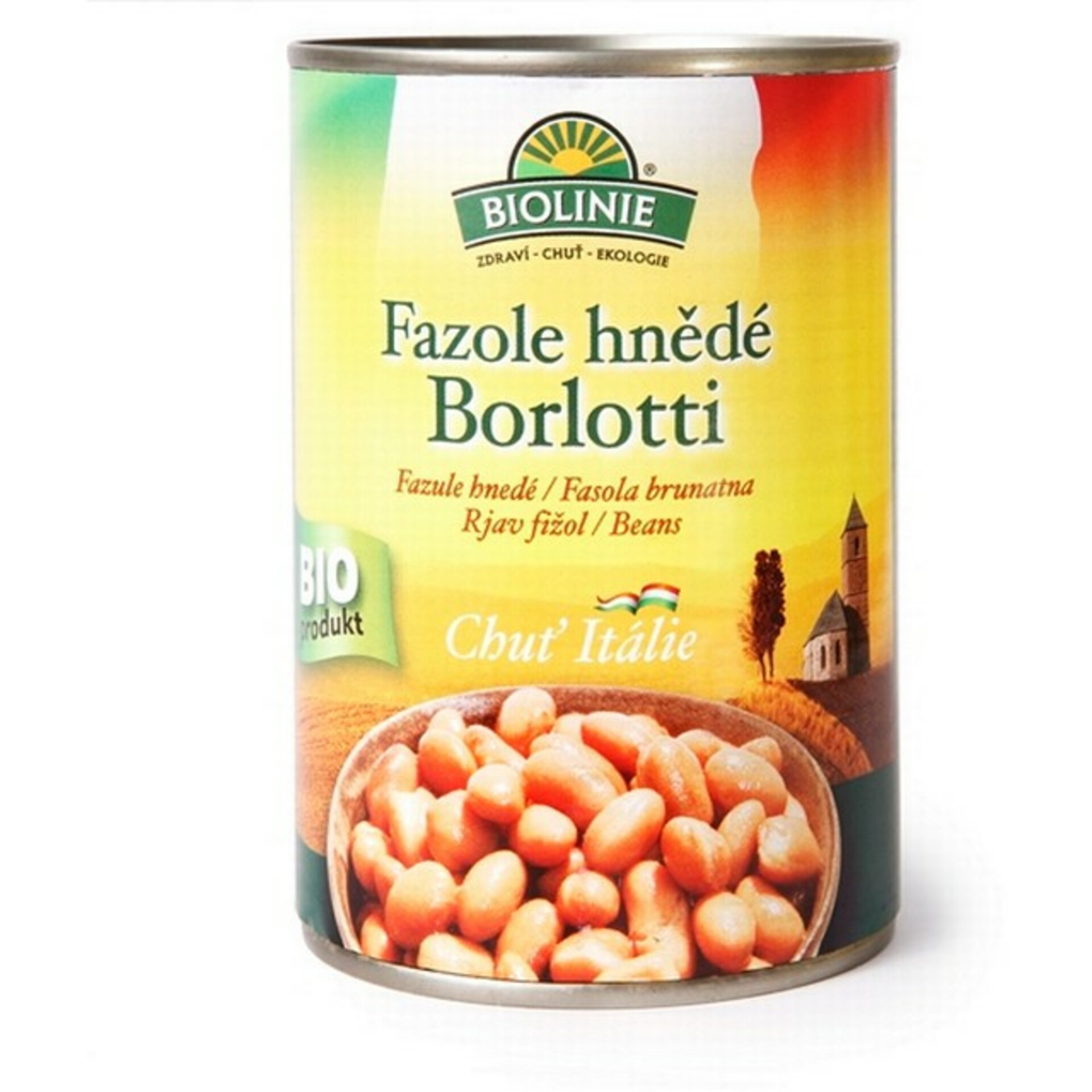 Biolinie Fazole hnědé Borlotti sterilované 400 g