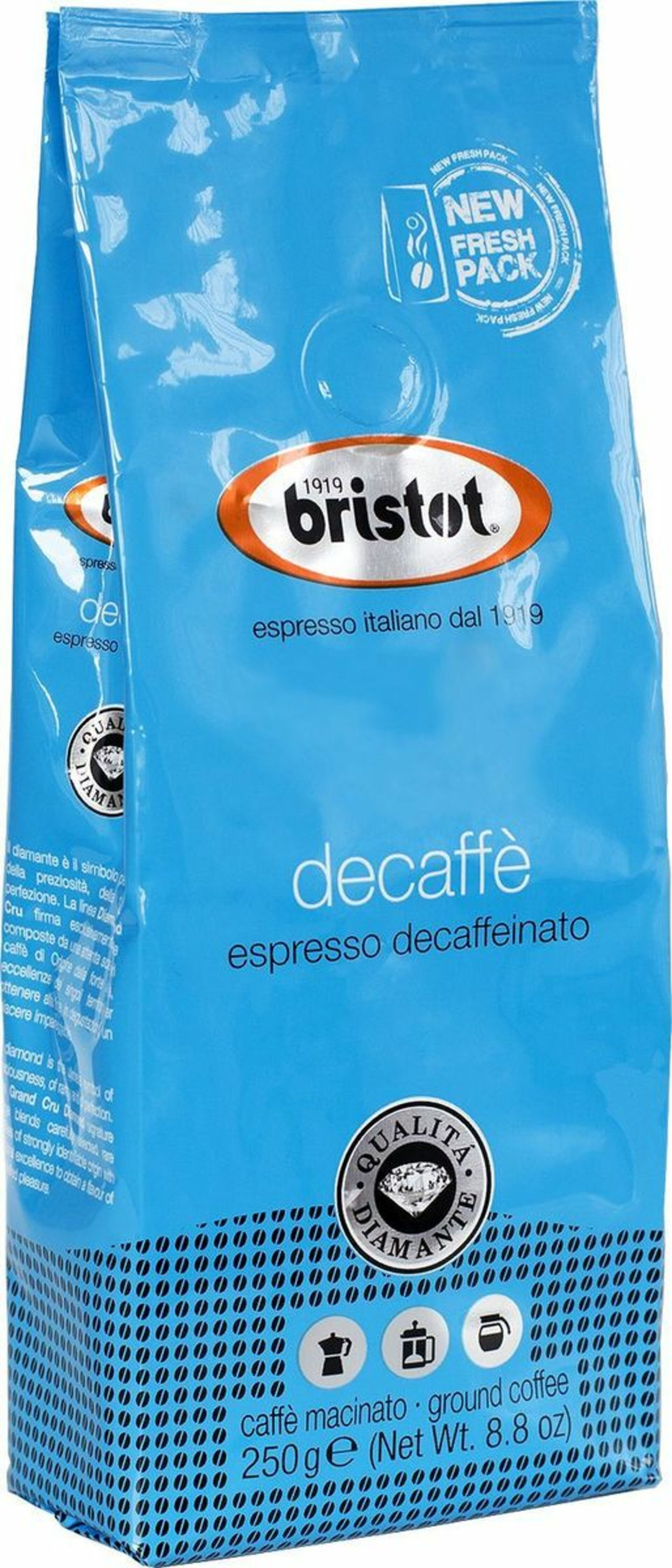 Bristot Diamante Decaf 250 g