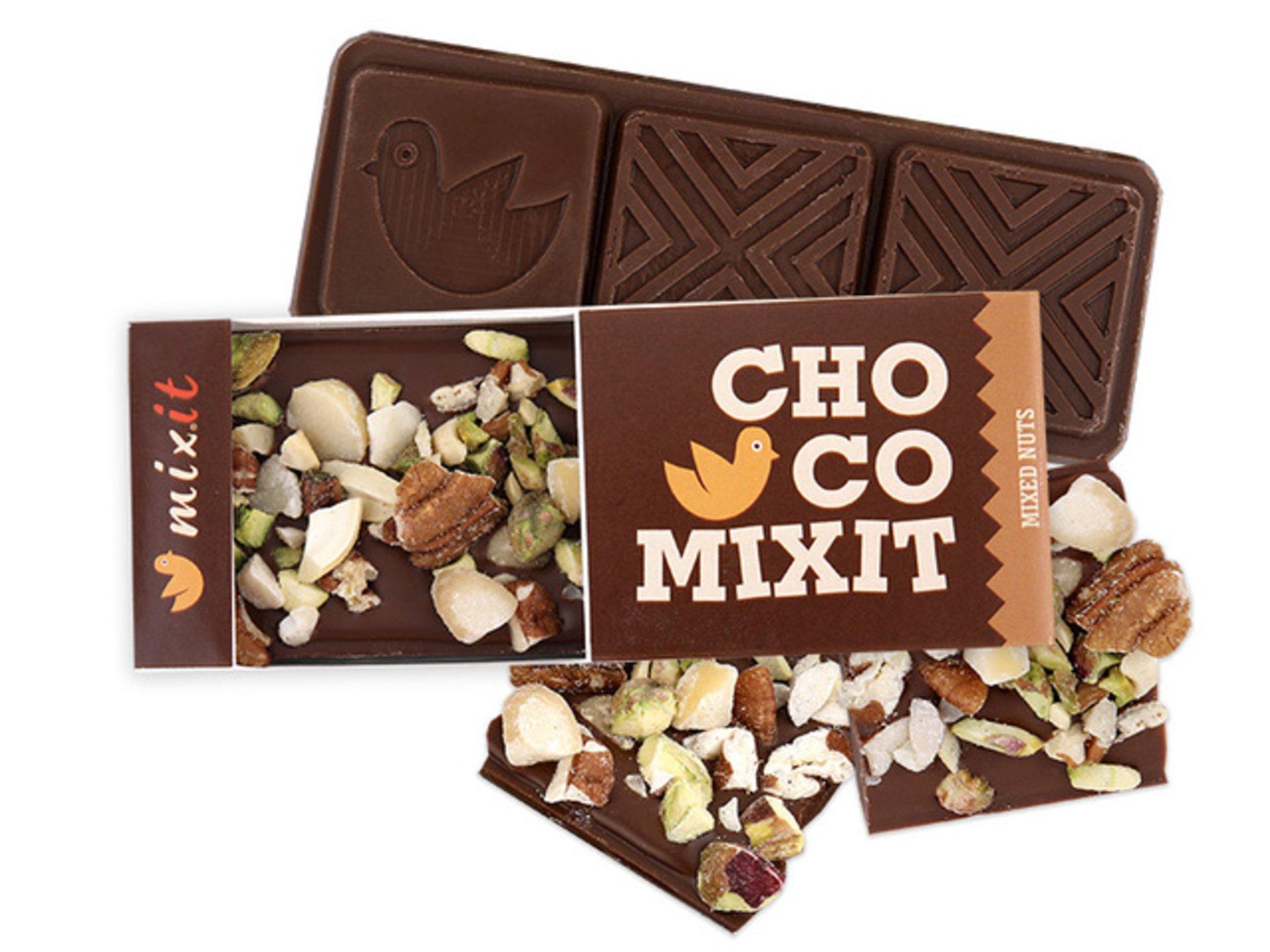 Mixit Čokoláda Mini - Mléčná s ořechy 50 g - expirace