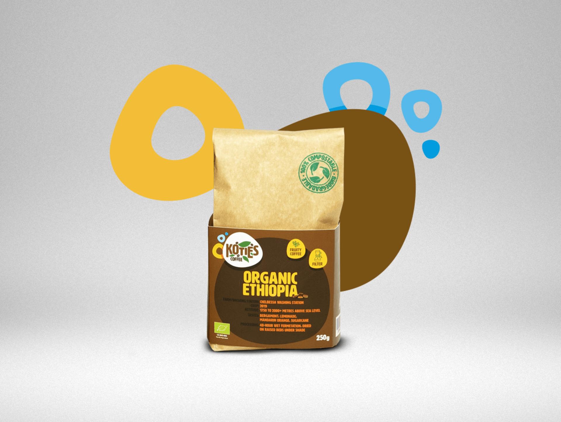 Koties Zrnková káva Ethiopie BIO 250 g - expirace