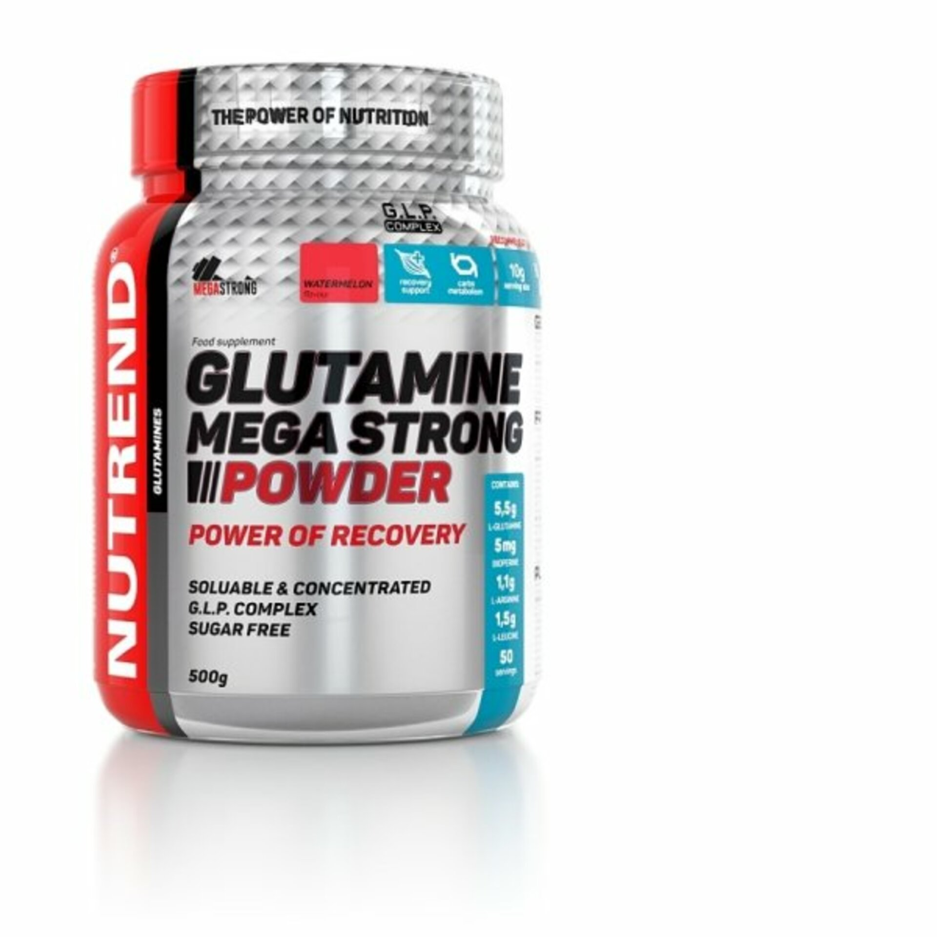 Nutrend Glutamine mega strong powder 500 g - expirace