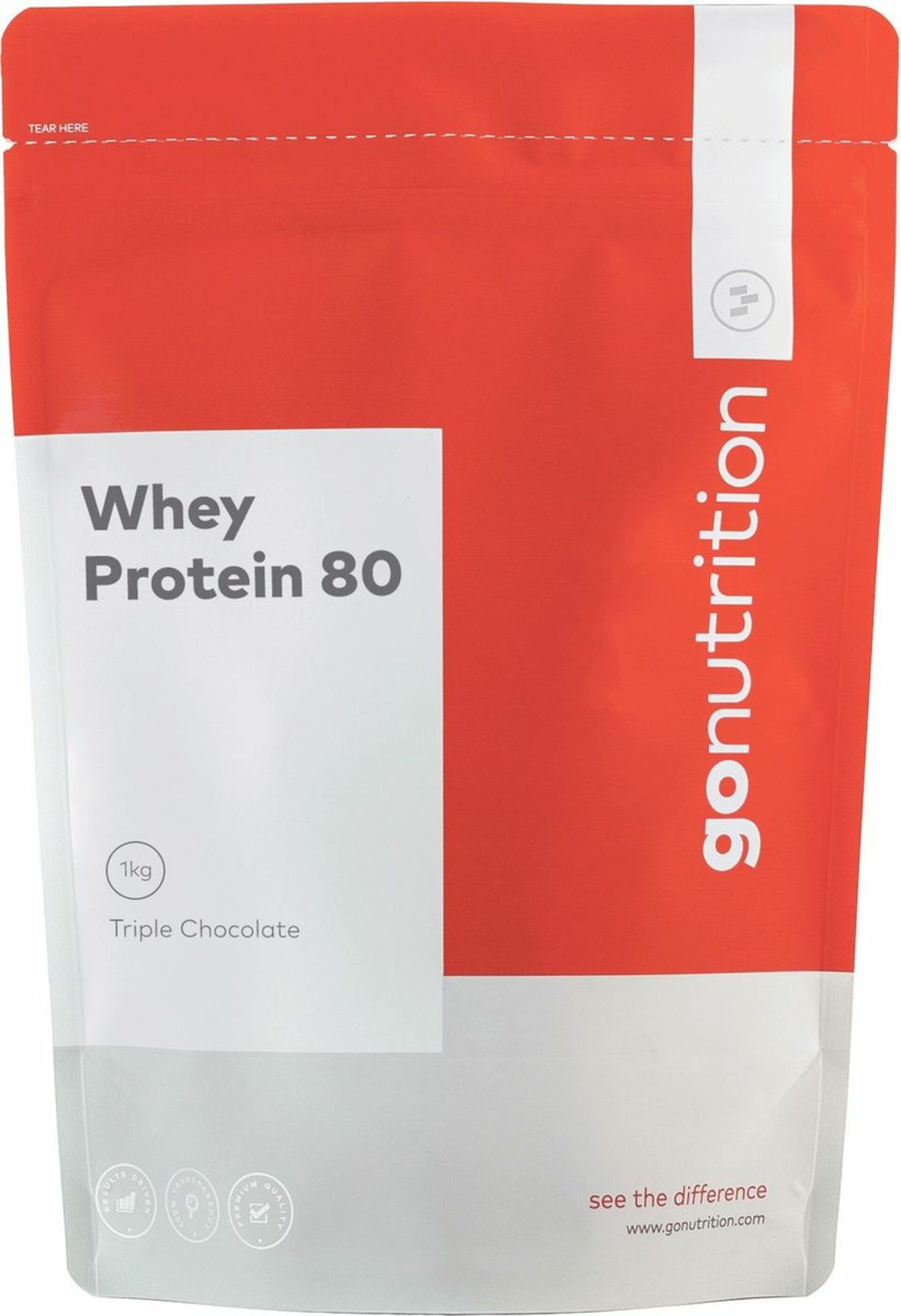 GoNutrition Whey Protein 80 1000 g