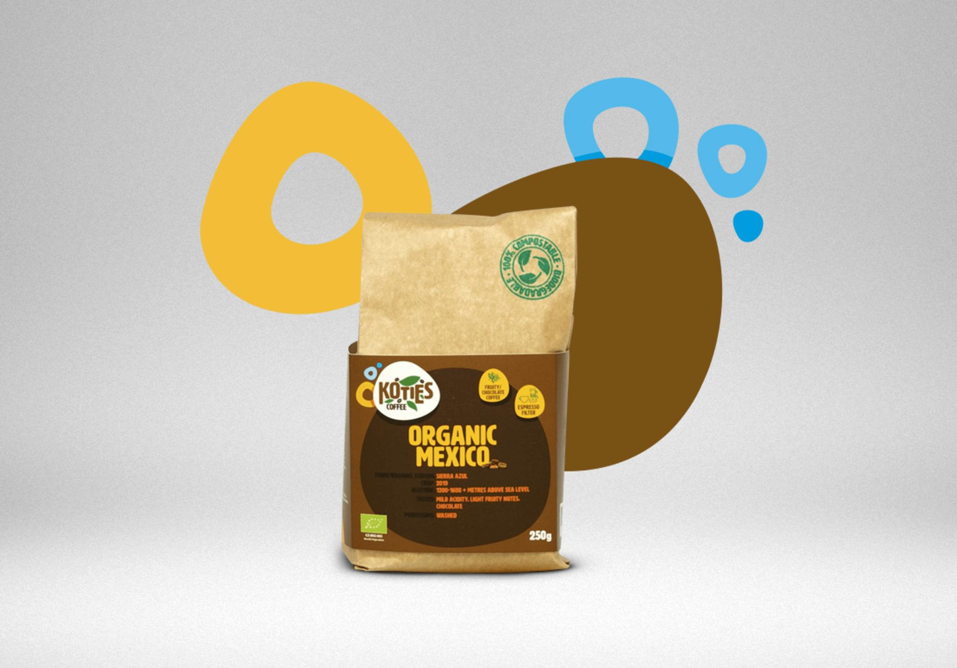 Koties Zrnková káva Mexico BIO 250 g - expirace