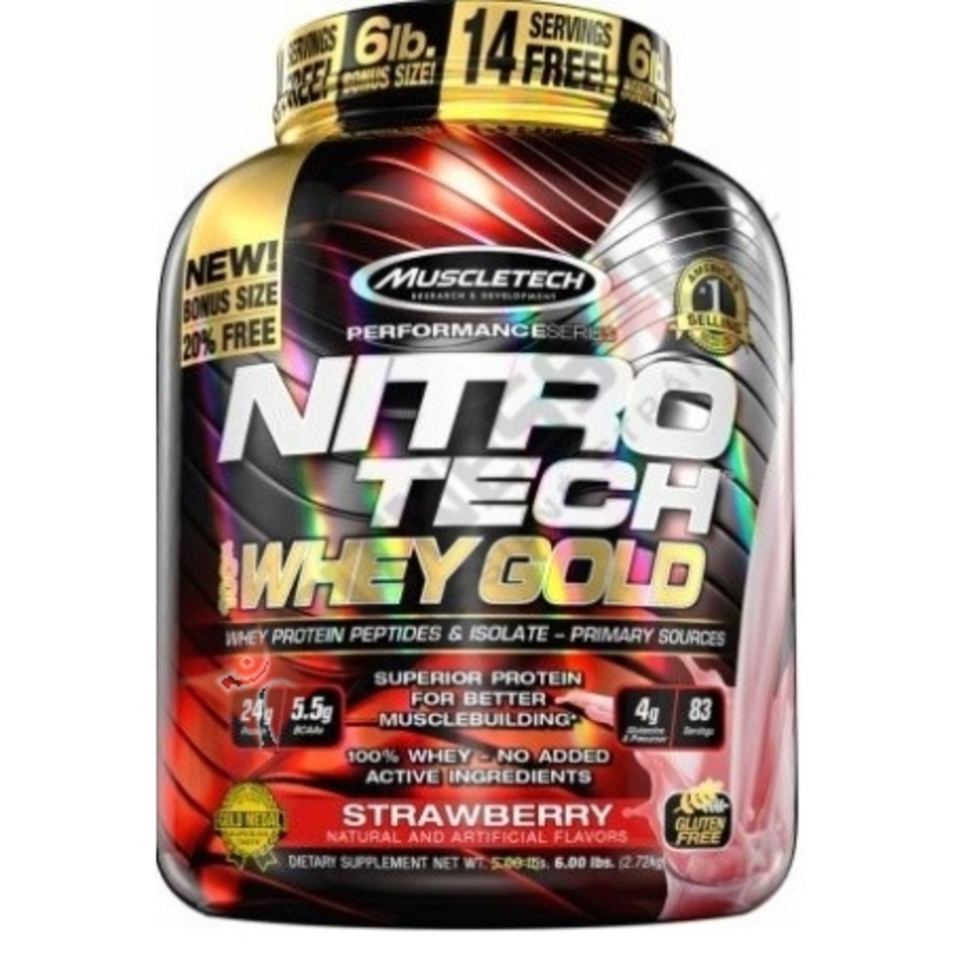 MuscleTech nitrotech 100% whey gold 2508 g