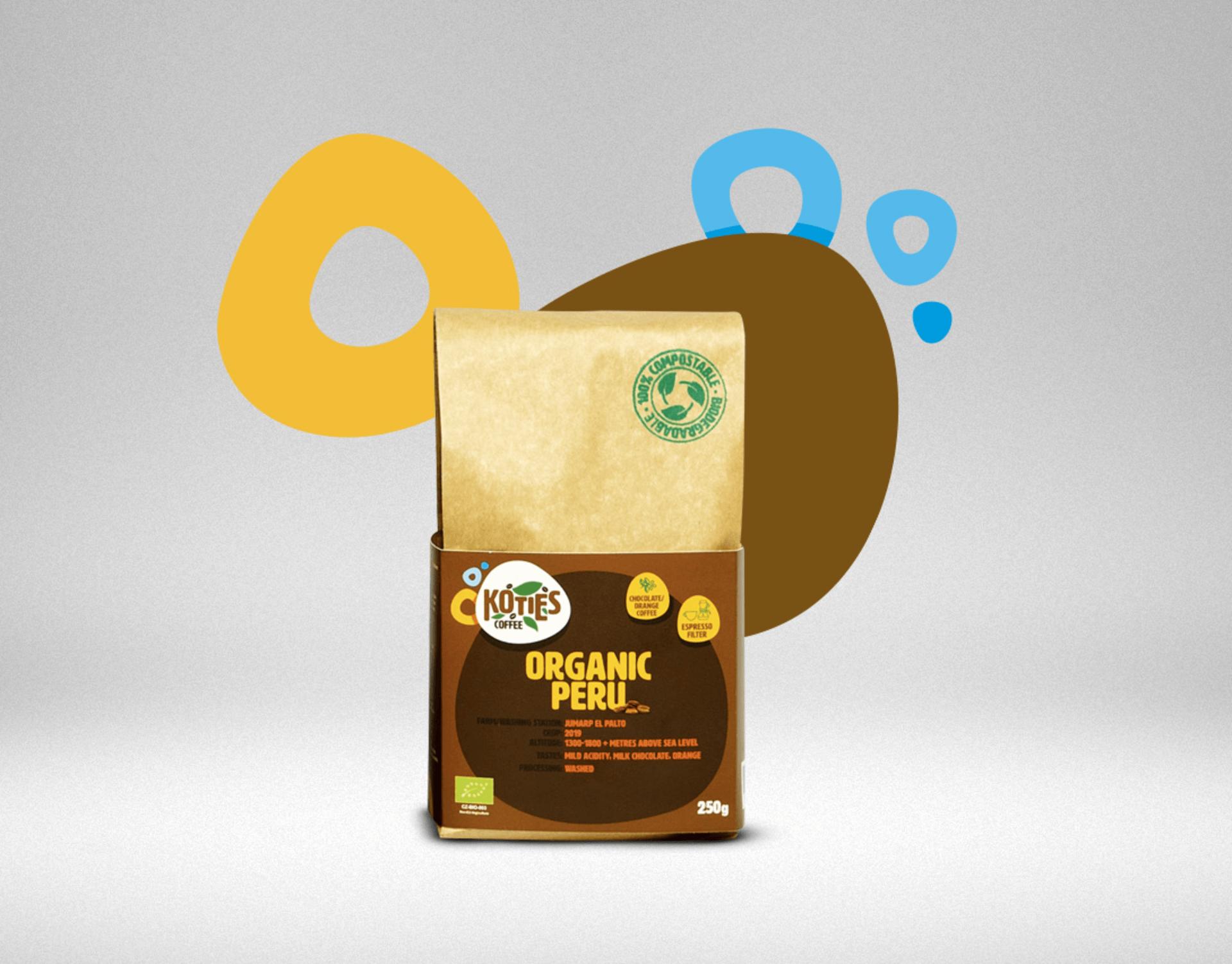 Koties Zrnková káva Peru BIO 250 g - expirace