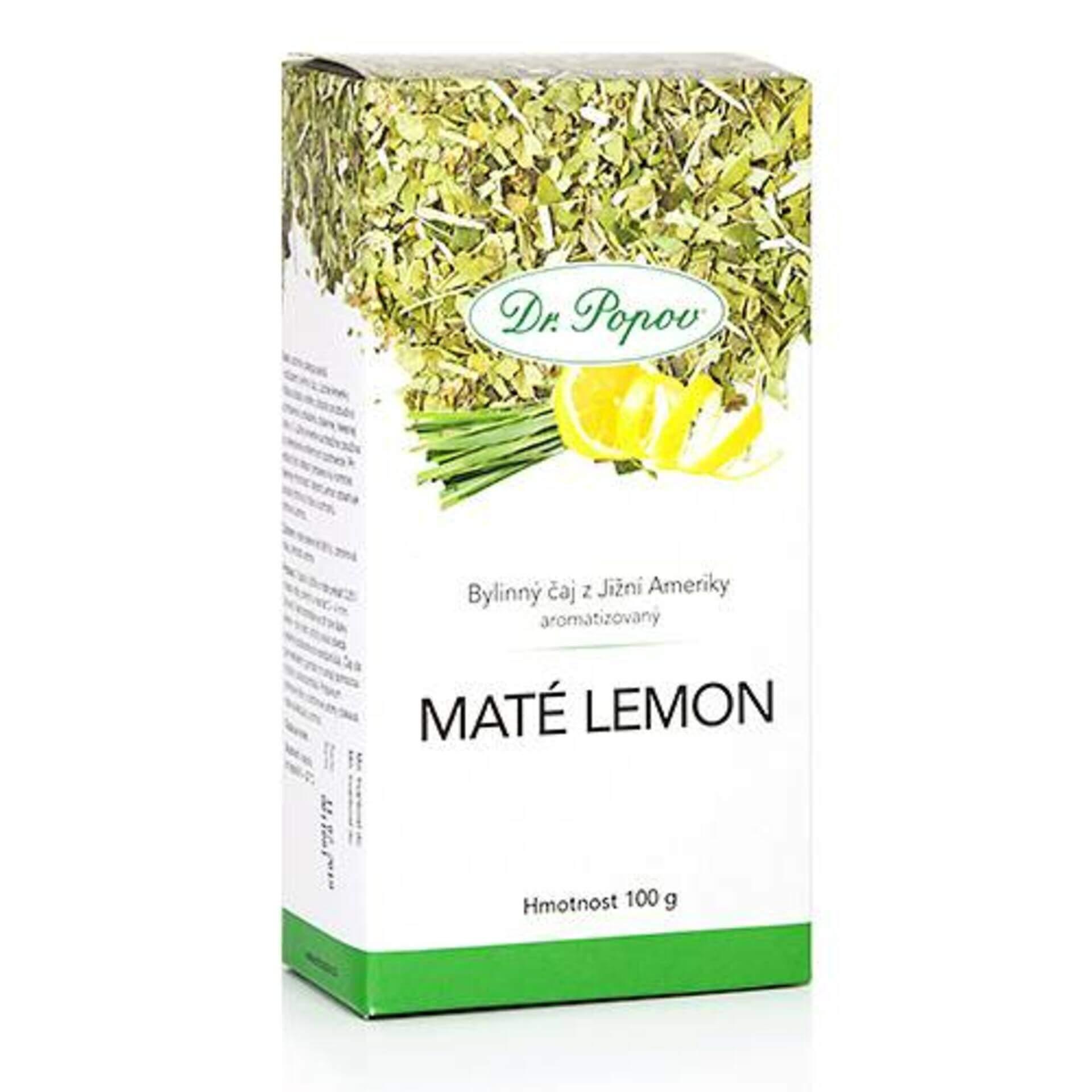Dr. Popov Čaj maté lemon 100 g