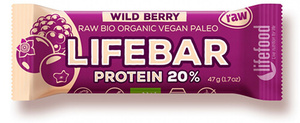 Lifefood Lifebar Protein Lesní ovoce BIO RAW 47 g