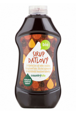 Country Life Sirup datlový BIO XXL 874 ml