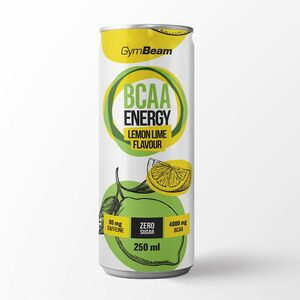 GymBeam BCAA Energy drink citron/limetka 250 ml