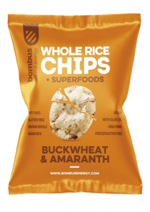 Bombus Rice chips 60 g buckwheat/amaranth