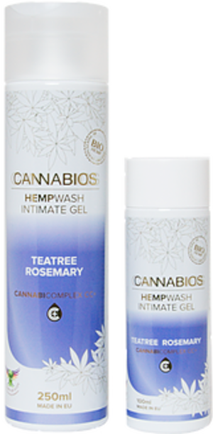 Cannabios Hempwash intimate gel 250ml, teatree rosemary