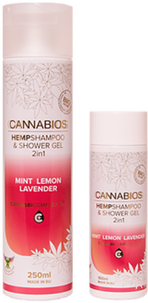 Cannabios Hempshampoo a shower gel 250ml, mint lemon a lavender