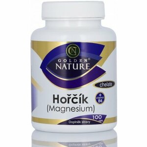 Golden Nature Magnesium (Hořčík) Chelate+Vitamin B6 100 tablet