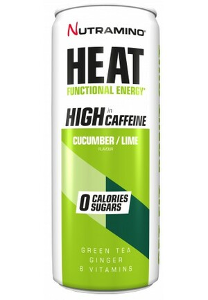 Nutramino Heat Energy Drink  -  okurka, limetka 330 ml