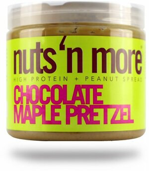Nuts 'N More Arašídové máslo chocolate maple pretzel s proteinem 454 g