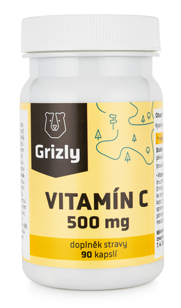 GRIZLY Vitamín C 500 mg 90 tablet