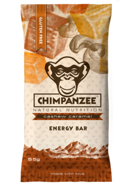 Chimpanzee Energy bar Kešu - Karamel 55 g