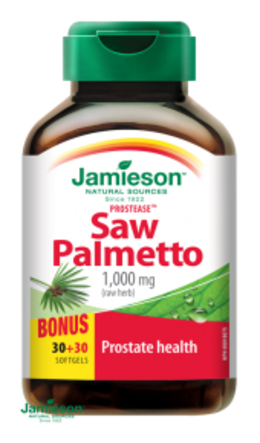 Jamieson Prostease™ Saw Palmetto 125 mg na prostatu 60 tablet