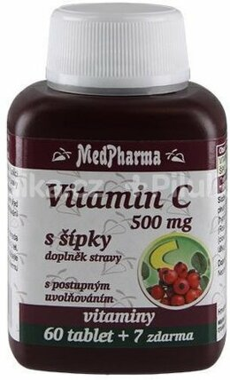 MedPharma Vitamin C 500 mg s šípky 67 tablet