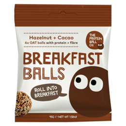 The protein ball co Breakfast lískové ořechy + kakao 45 g