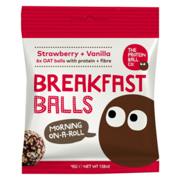 The protein ball co Breakfast jahoda + vanilka 45 g