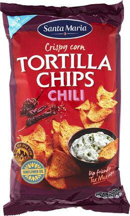 Santa Maria Tortilla chips chilli 185 g