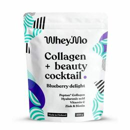 Whey'mo Collagen+ beauty coctail 250 g Blueberry delight