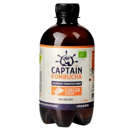 Captain Kombucha ginger - lemon BIO 0,4 l